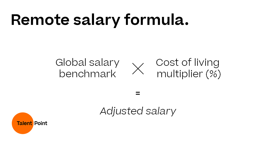 Remote salary formula